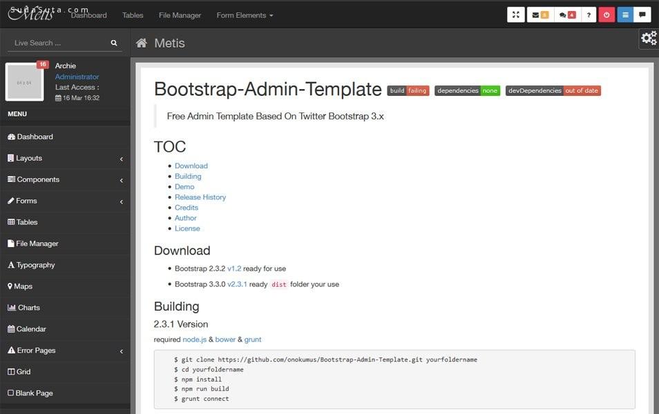 50个极好的bootstrap框架主题下载