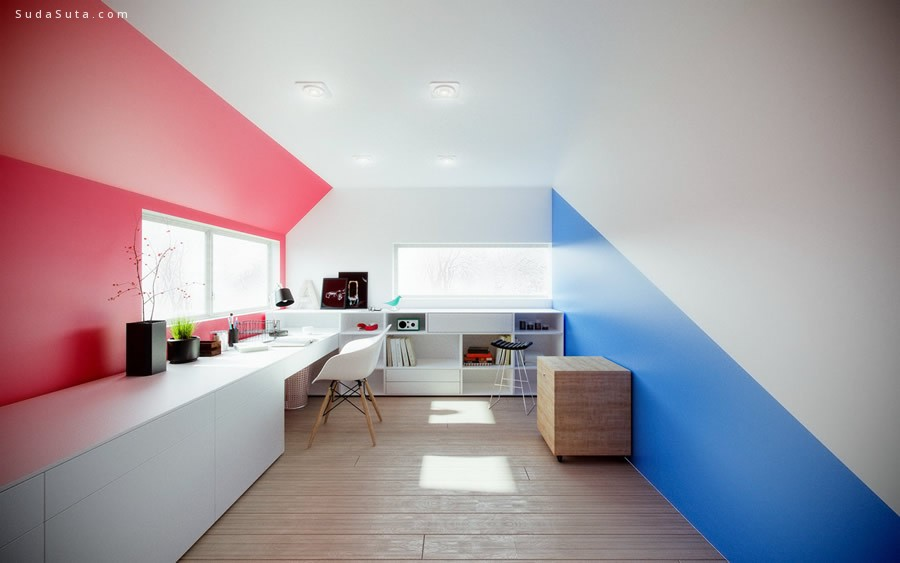 Michael Nowak 3d室内渲染效果图设计分享