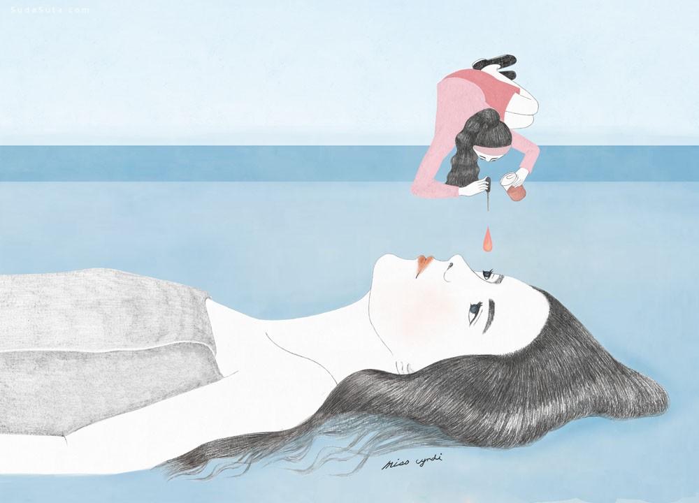 Miss Cyndi 细腻唯美的女生插画