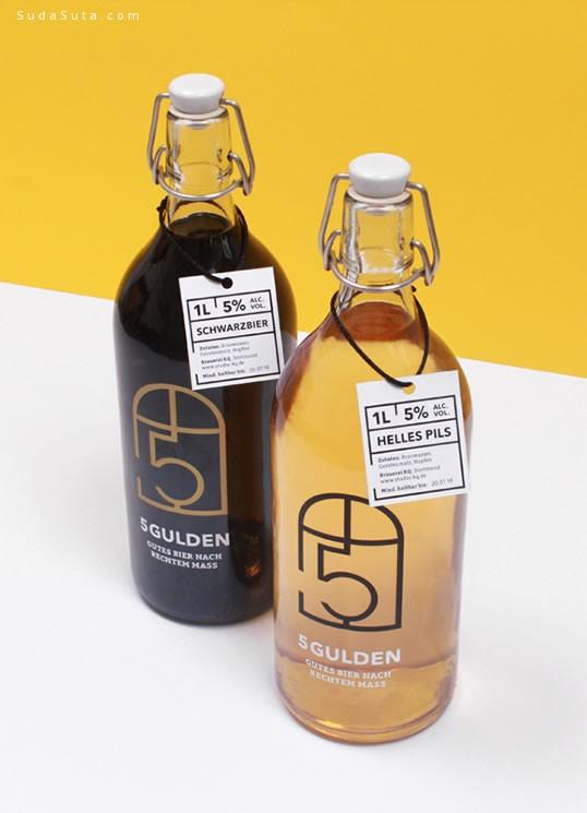 漂亮的标签和瓶子 包装设计灵感欣赏