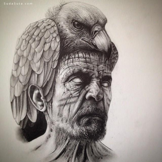 Paul Jackson 骷髅与动物 手绘插画欣赏