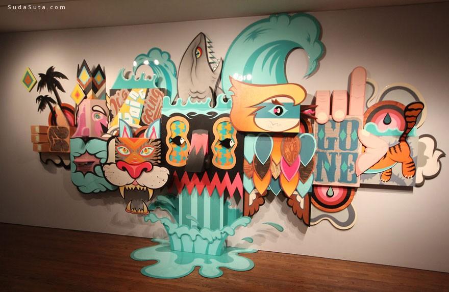 博物馆内的艺术涂鸦