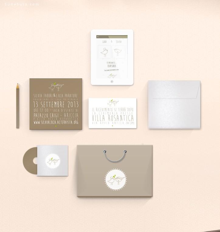 婚礼相关的印刷品设计欣赏
