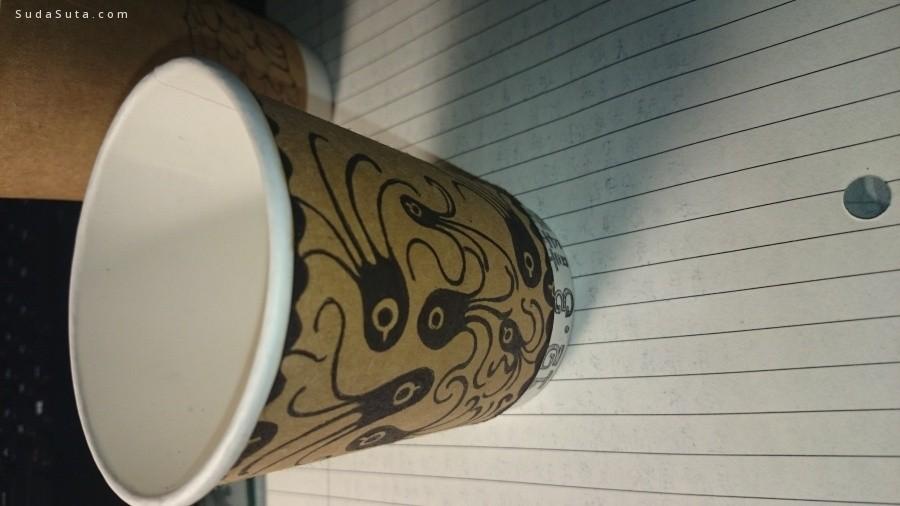 烦吃鱼的猫 可爱的手绘咖啡杯