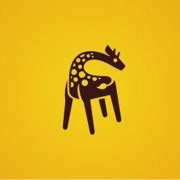 创意LOGO 长颈鹿