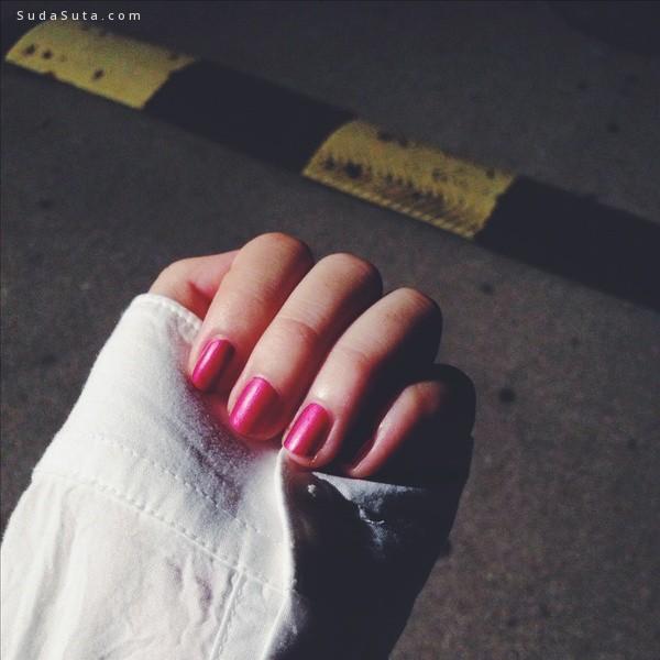彩色心情 彩色指甲 美甲摄影欣赏