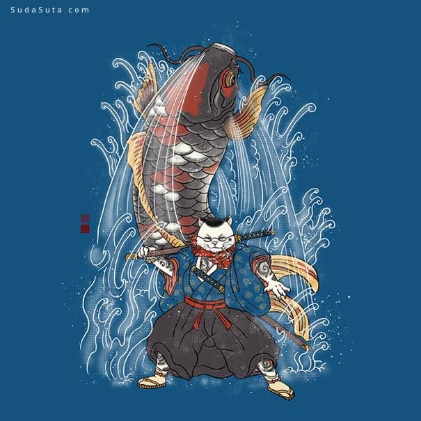 William Chua 猫咪的装饰插画欣赏