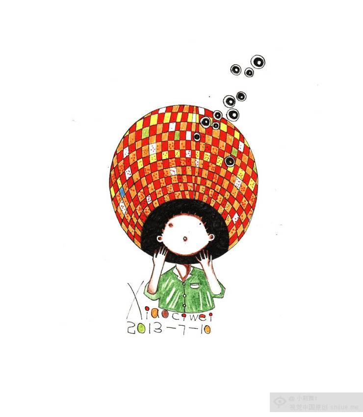 小刺猬插画 我的世界我的画