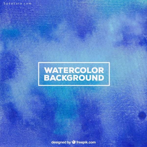 30个漂亮清新的水彩免费素材