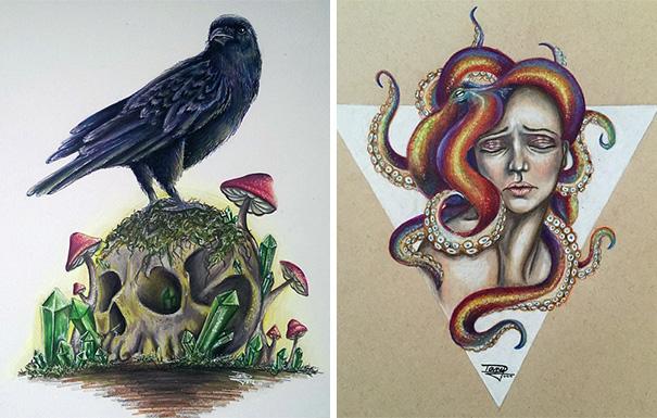 Dany Lizeth 手绘装饰插画欣赏