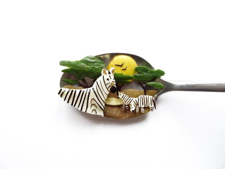Ioana Vanc 勺子上的美食