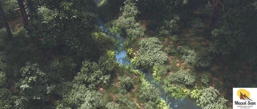 Massimo Verona 令人眩目的3d自然风景渲染欣赏