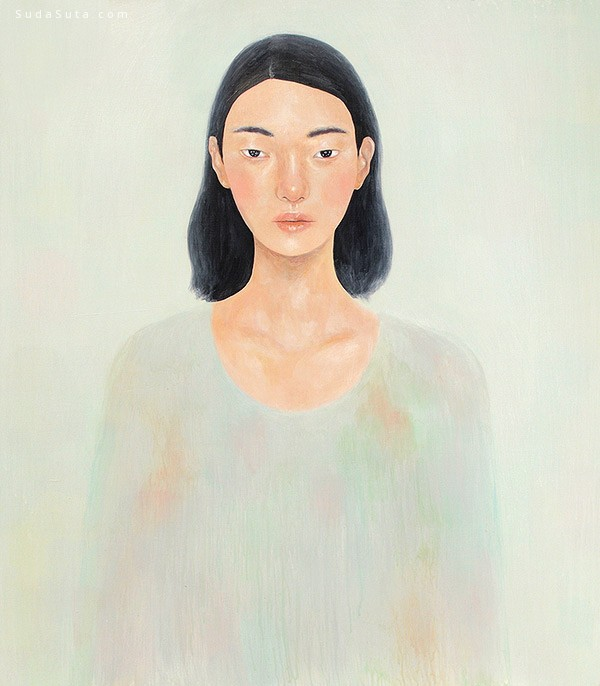 Tae Lee 羞涩女生 手绘艺术欣赏