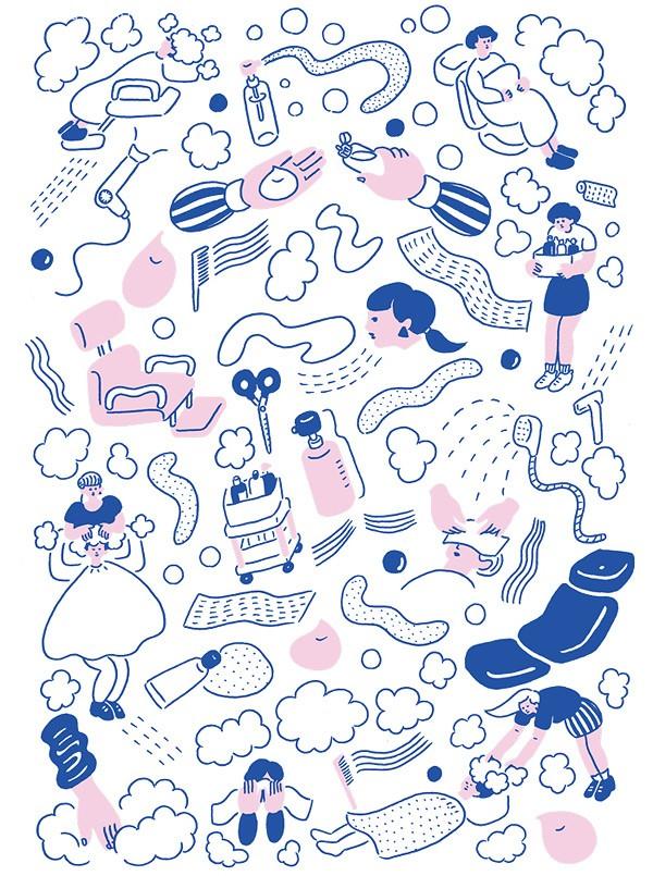 Yu Fukagawa 简约可爱的插画艺术