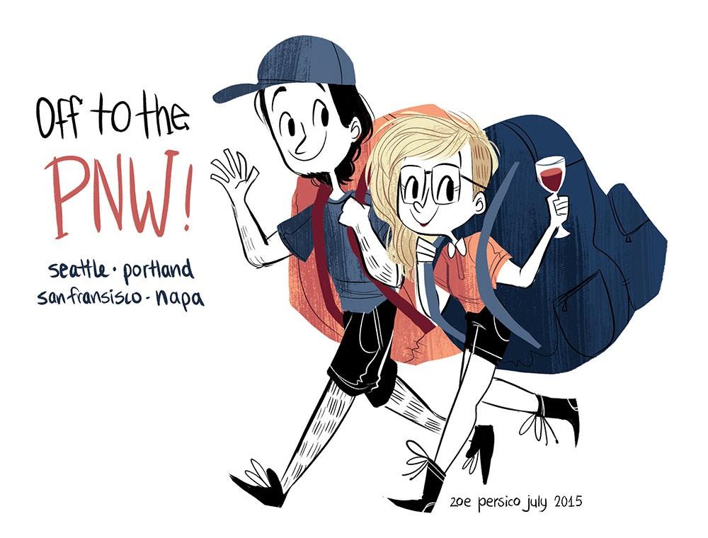 Zoe Persico 可爱清新的手绘卡通