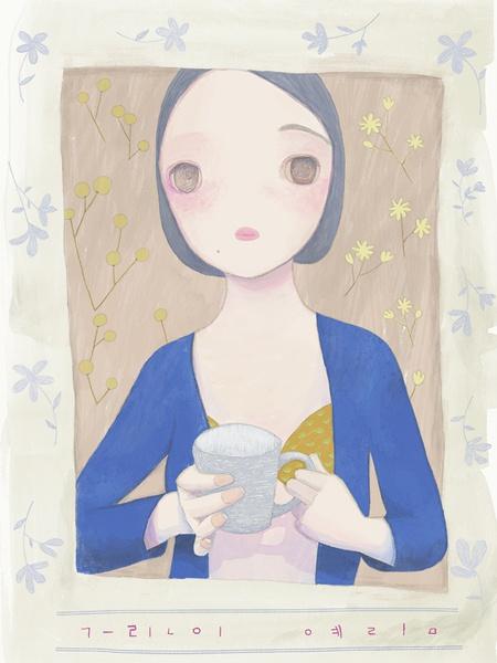 韩国艺术家예림 温暖的色彩