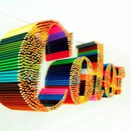 Jasper Gilsing 彩色铅笔 装置设计欣赏