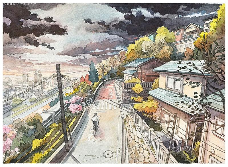 mattjabbar 清新唯美的动画水彩插画欣赏