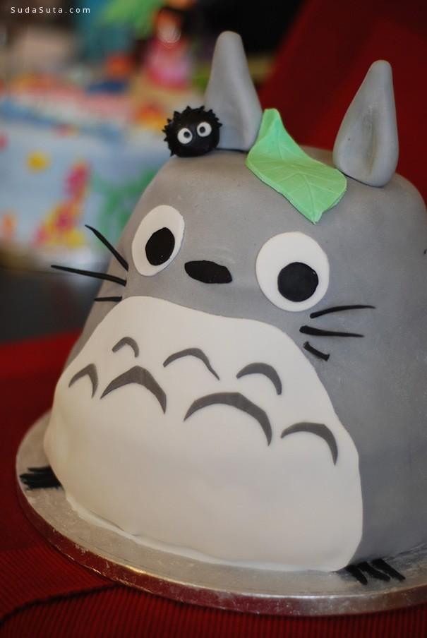 二次元龙猫蛋糕设计欣赏