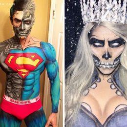 Argenis Pinal 超级英雄主题的化妆艺术