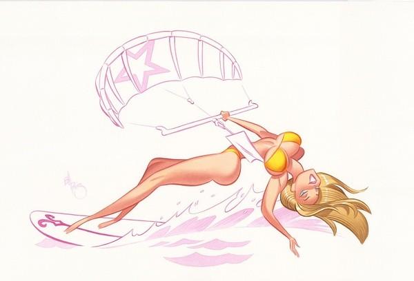 Bill Presing 性感可爱的卡通手绘MM