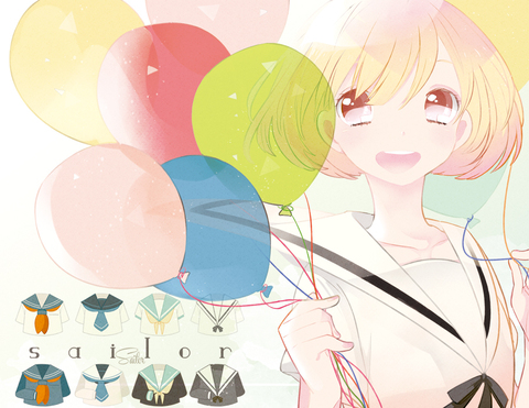 气球和游乐场 二次元主题CG欣赏