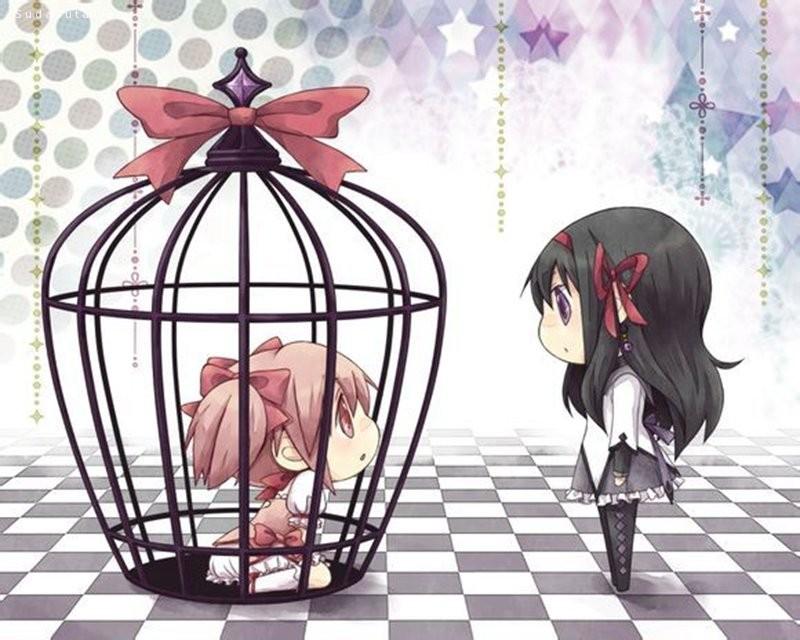 主题漫画CG欣赏 囚笼中的美少女