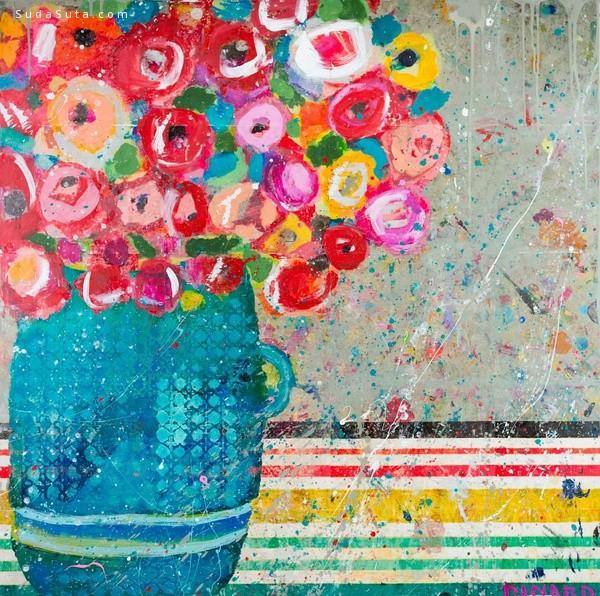 Christy Kinard 花的姿态 手绘艺术欣赏