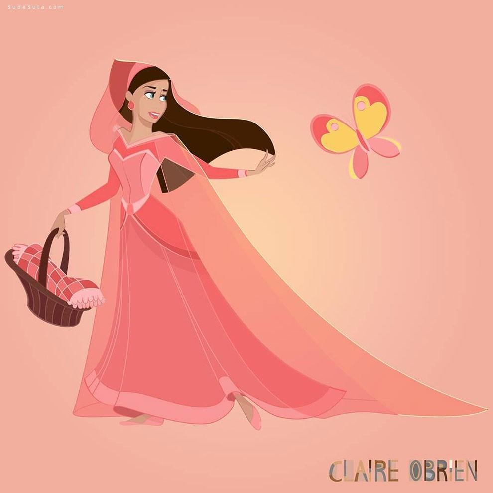 Claire O'Brien 绘画作品欣赏