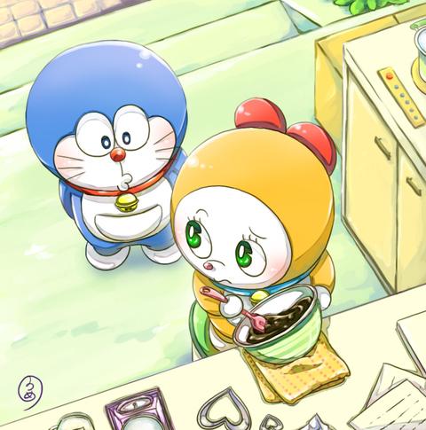 幸福的蓝胖子 哆啦A梦主题插画欣赏