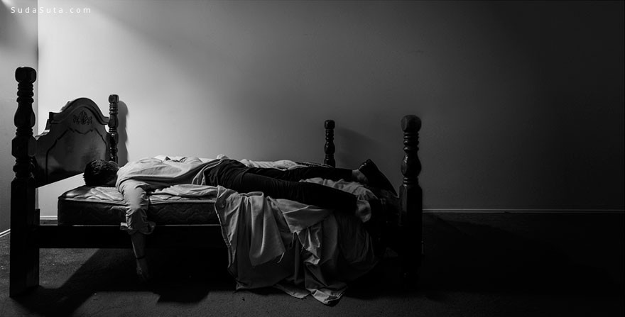 Edward Honaker 忧郁症 黑白自画像