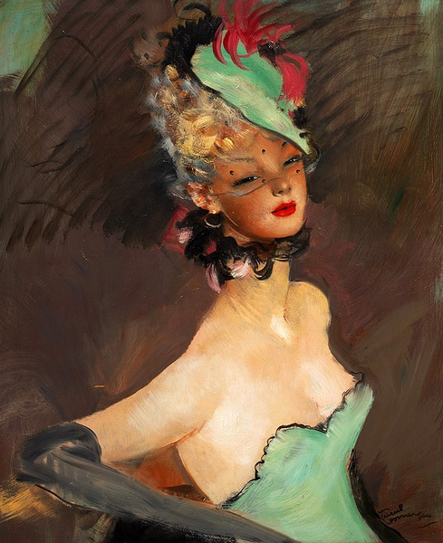 Jean-Gabriel Domergue 复古的手绘美女欣赏