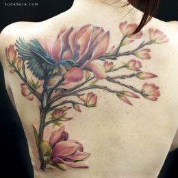 白玉兰 创意纹身设计欣赏