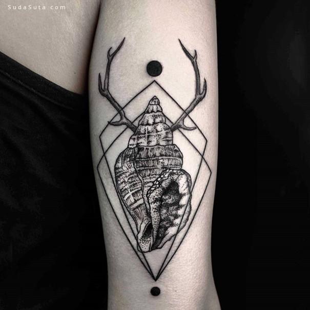 Okan Uçkun 几何形与自然 刺青艺术欣赏