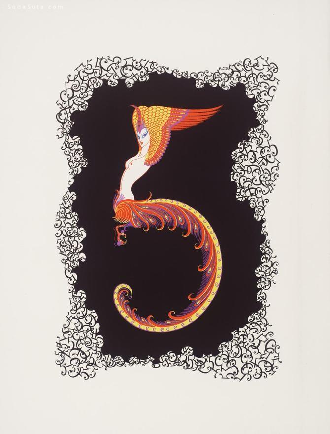 Romain de Tirtoff 字母设计欣赏