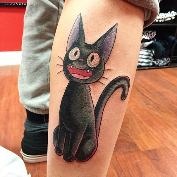 龙猫主题 纹身图案设计欣赏
