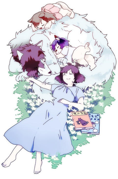 《狼的孩子雨和雪》主题动漫CG欣赏