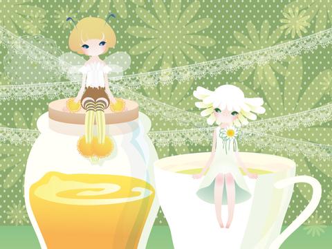 琥珀色蜂蜜与女生 主题漫画CG欣赏