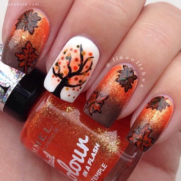 秋季主题 美甲设计欣赏