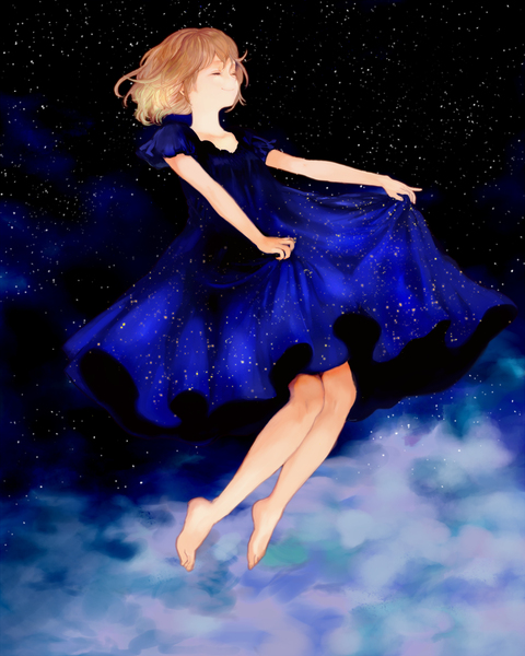 把宇宙穿在身上 创意动漫mm欣赏