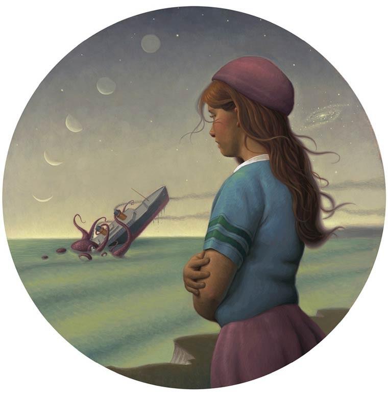 Mark Elliott 黑暗童话 超现实主义绘画艺术欣赏