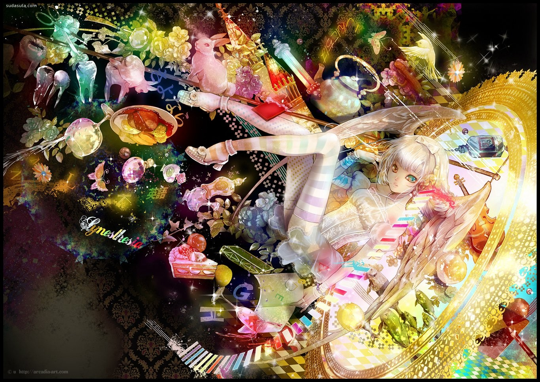 爱丽丝梦游仙境 主题少女漫画欣赏