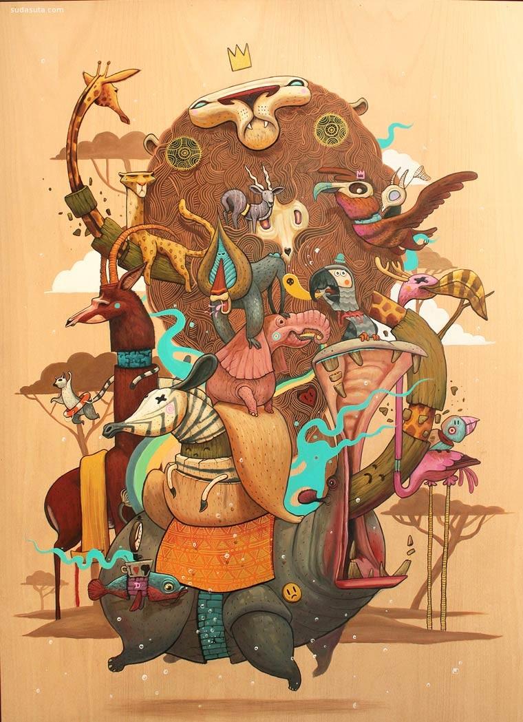 Antonio Segura 可爱有趣的插花艺术欣赏