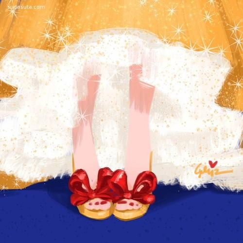 GrizandNorm Lemay 迪士尼公主们的漂亮鞋子