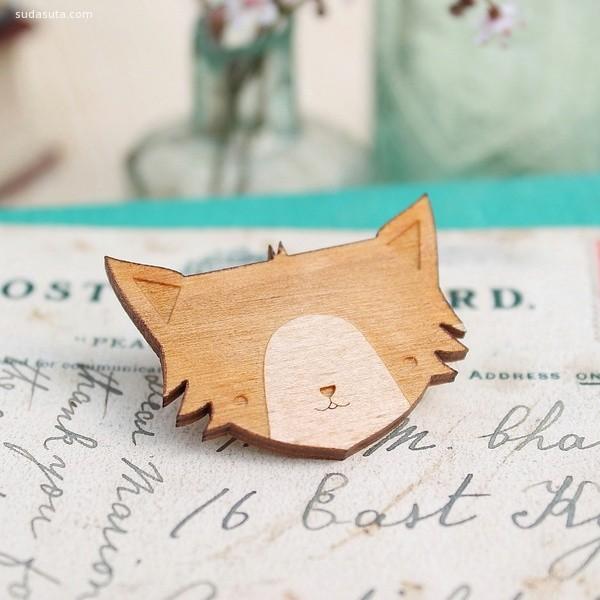 Jade Murray 木头手工首饰设计欣赏