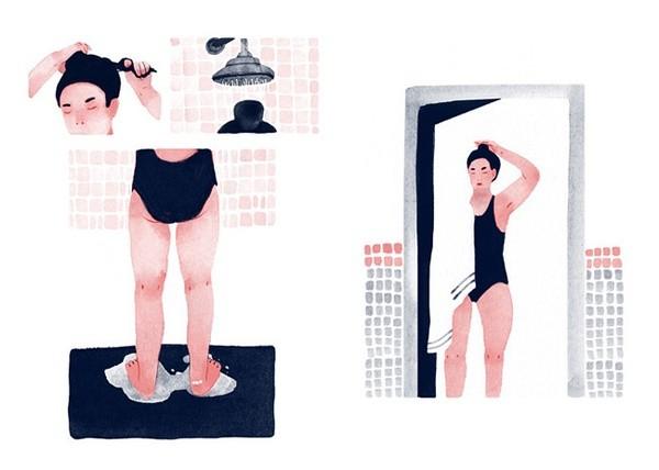 Jeannie Phan 安静的生活插画
