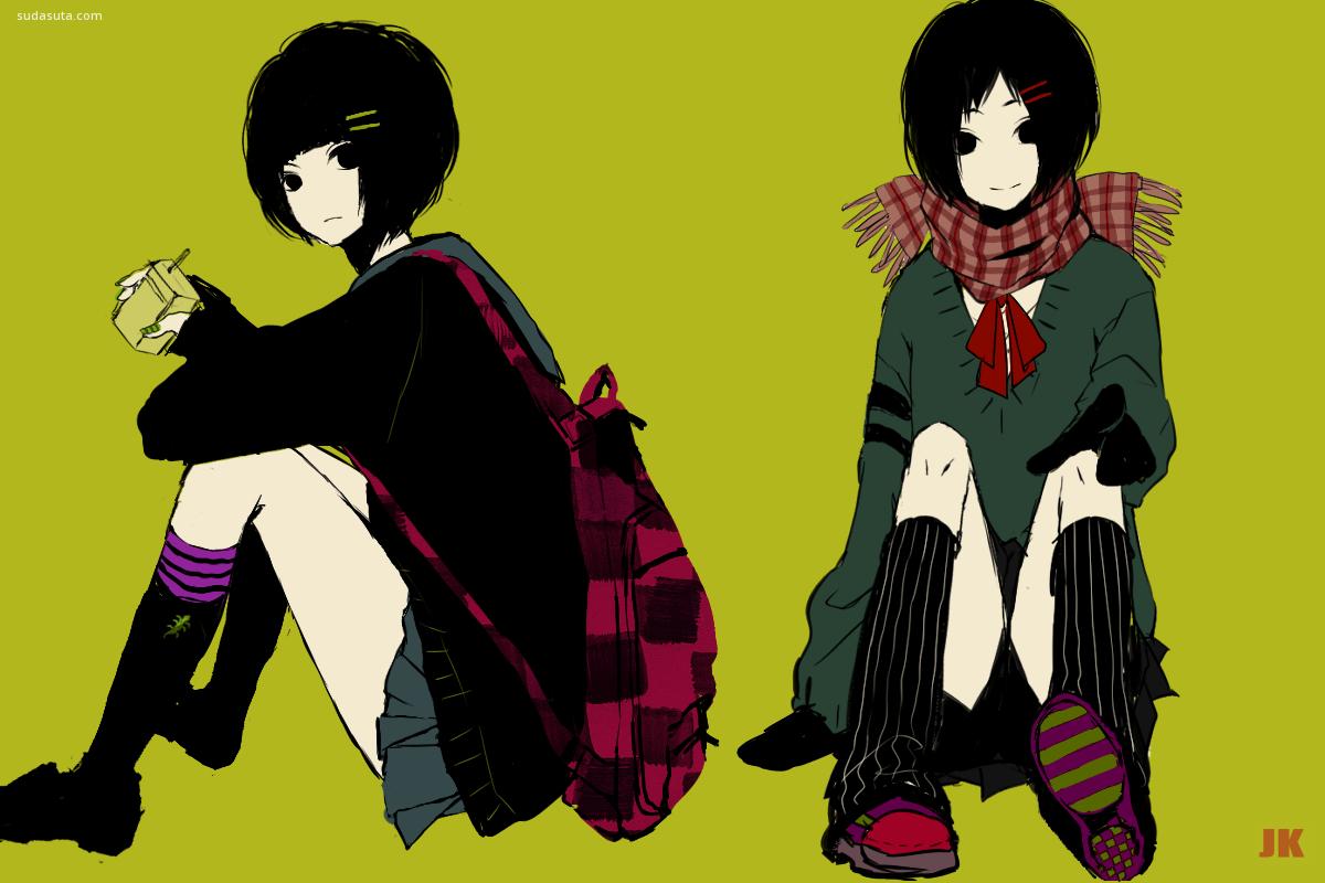 仮名Kana 青春与制服 漫画CG欣赏