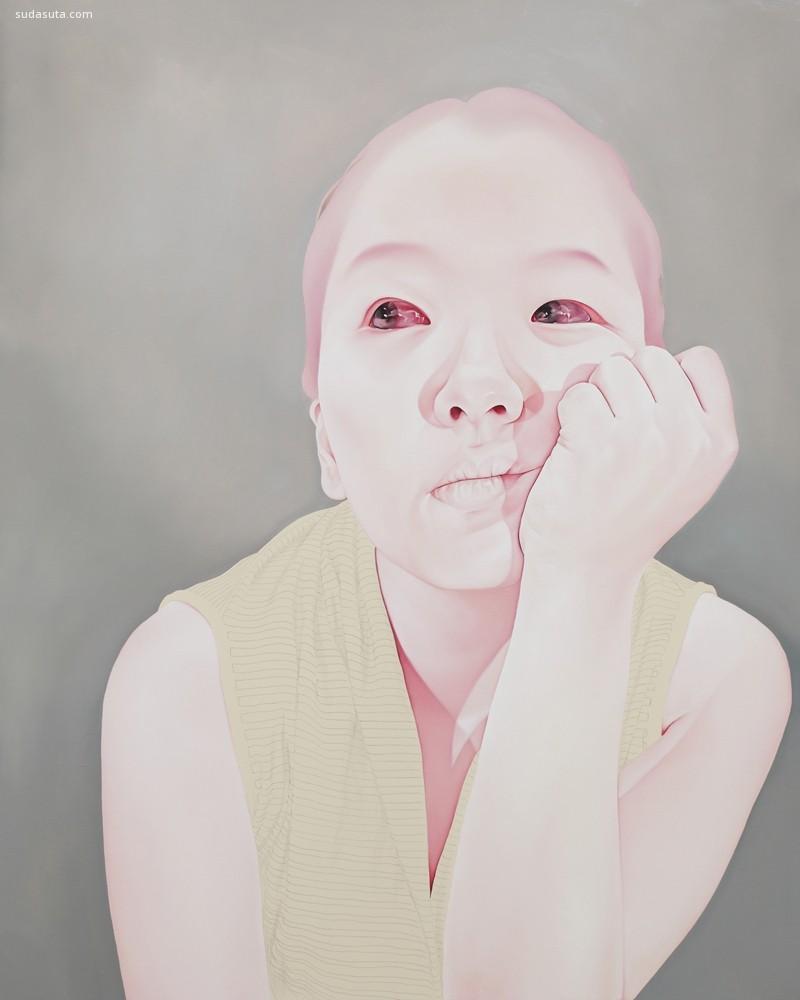 Sungsoo Kim 敏感而病态的人像绘画欣赏
