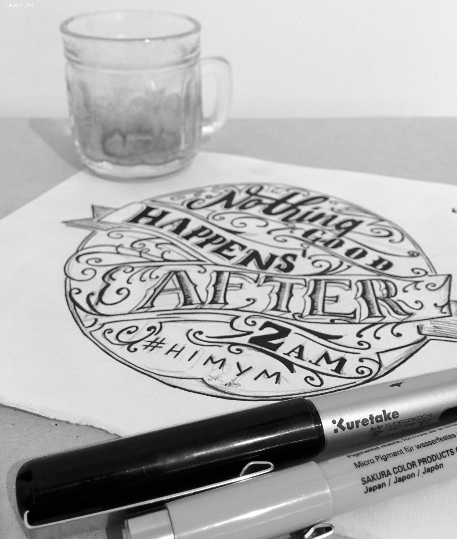 灵感分享 花体字设计欣赏