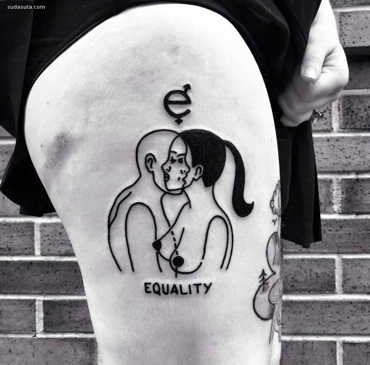 生来自由 抽象纹身艺术家 Eterno